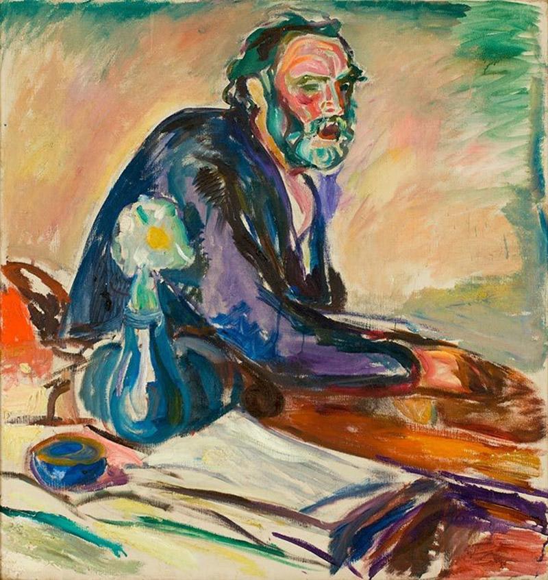 Edward Munch, autoritratto